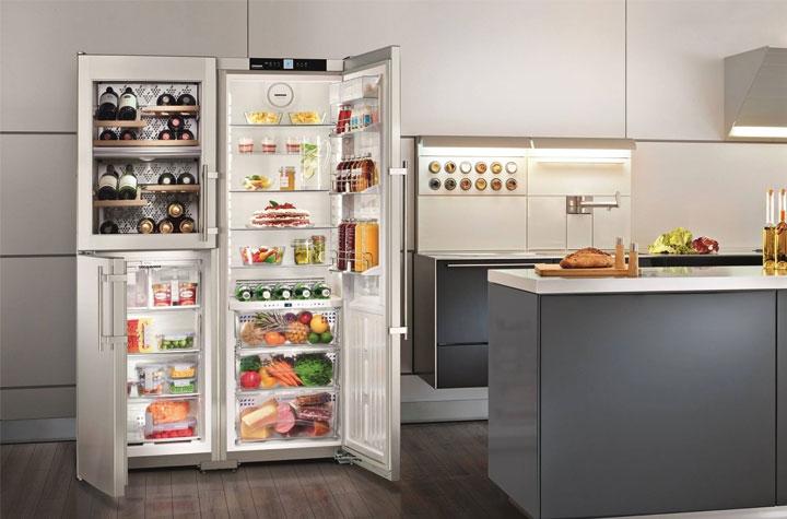 liebherr frigo ouvert