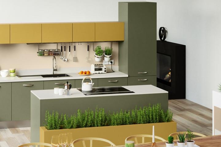 Nos Cuisines : Design, Moderne, Bois, avec îlot - COMERA ...