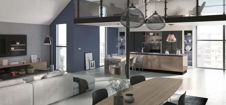 La cuisine COMERA Equinoxe est équipée de fours ultra design De Dietrich