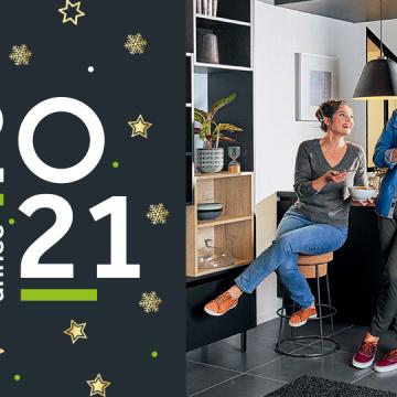 Votre magasin de cuisines vous souhaite une bonne année 2021 !