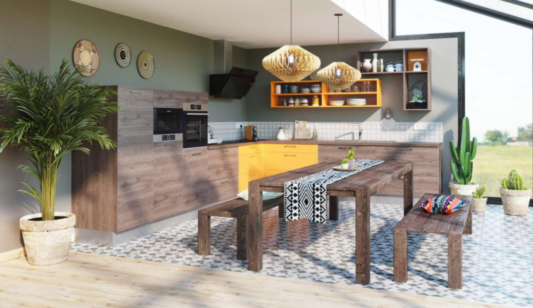 cuisine-contemporaine-design-couleur-verte